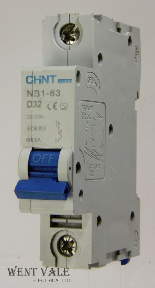 Chint NB1-63-D32 - 32a Type D Single Pole MCB Used